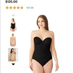 NEW Wacoal Reshaping Strapless Bodysuit